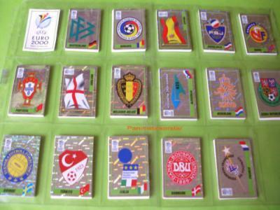 PANINI EURO 2000 BELGIEN NIEDERLANDE KOMPLETTSATZ !
