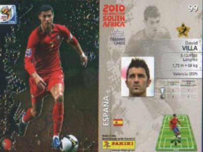 PANINI WORLD CUP 2010 PREMIUM CARD RAINBOW FOIL NUM 90