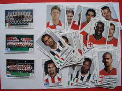 PANINI CHAMPIONS LEAGUE 2001 2002 STICKERS X 101 unused
