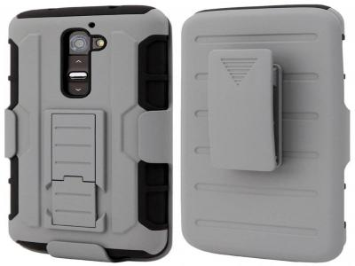 Hybrid Future Impact Armor Box Case Holster Stand Cover Combo For LG G2 +Stylus