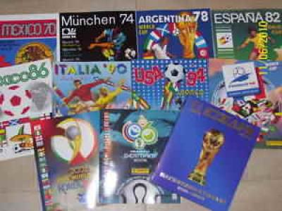 PANINI WORLD CUP 1970-2006 10 ALBUMS REPRINT + CASE!!