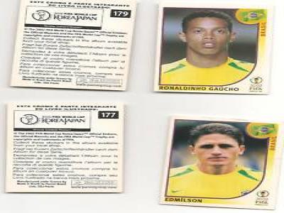 panini 2002 extras world cup 177 and 179
