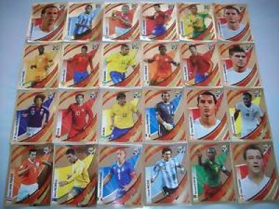 24 Panini World Cup South Africa 2010 Tracker stickers